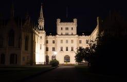 Castle Lednice at night Royalty Free Stock Photo