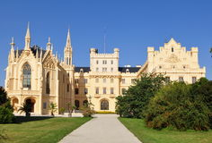 Castle Lednice,UNESCO heritage site Stock Photos