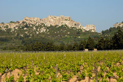 Castle of Les-Baux-de-Provence Stock Image