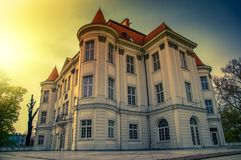 Castle in Lesnica royalty free stock photo