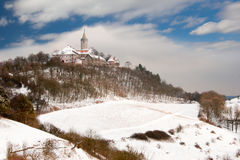 Castle Leuchtenburg in winter Royalty Free Stock Image