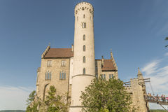 Castle Lichtenstein - Auxiliary building with tower Stock Photography