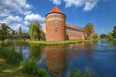 Castle in Lidzbark Warminski Stock Images