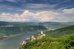 Free Castle Liebenstein And Castle Sterrenberg Over The Rhine Valley Stock Image - 97835131