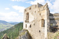 Castle Lietava Slovakia. Sideview Royalty Free Stock Photography