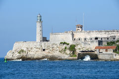 Castle and lighthouse of El Morro at Havana Royalty Free Stock Photo
