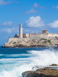 The Castle and lighthouse of El Morro in Havana Royalty Free Stock Photos