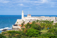The castle and lighthouse of El Morro in Havana Royalty Free Stock Image