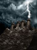 Castle_lighting1 Royalty Free Stock Photo