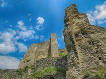 Castle Likava. On the Cloudy Sky Background, Liptov, Slovakia royalty free stock photography