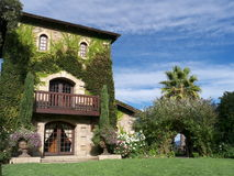 Castle like winery in Napa Valley. Napa Valley wineries are attracting many tourists with their park like settings and world class wine Stock Image