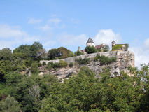 Castle on a limestone bluff Royalty Free Stock Image