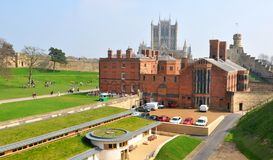 Castle in Lincoln, England Stock Photos