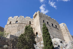 The castle of Lindos, Rhodes Stock Photo