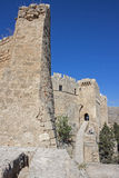 The castle of Lindos, Rhodes Stock Images