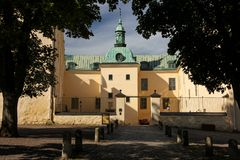 The Castle. Linkoping. Sweden. The medieval Castle from the main gate. Linkoping. Sweden stock image