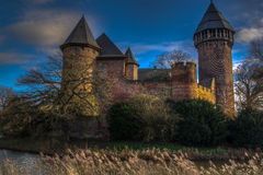Castle Linn, Krefeld Germany. Castle Linn in the wintertime Royalty Free Stock Photography