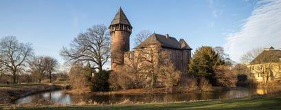 Castle linn krefeld germany. Historic castle linn near krefeld germany Royalty Free Stock Photo