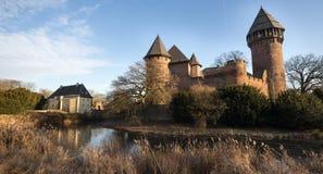 Castle linn krefeld germany. Historic castle linn near krefeld germany Royalty Free Stock Images