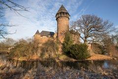 Castle linn krefeld germany. Historic castle linn near krefeld germany Stock Photos