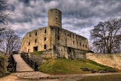 Castle in Lipowiec Royalty Free Stock Photo