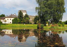 Castle in Liptovsky Hradok, Slovakia stock photo