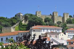 Castle in Lisbon stock photo