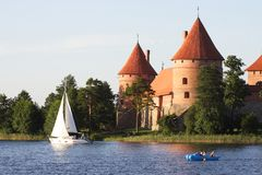 Castle in Lithuania Stock Image