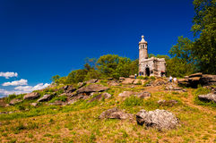 Castle on Little Round Top, in Gettysburg, Pennsylvania. Stock Photography