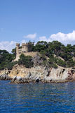 Castle. Lloret de Mar. Stock Images
