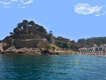 Castle in Lloret de Mar, Catalonia, Spain Royalty Free Stock Image