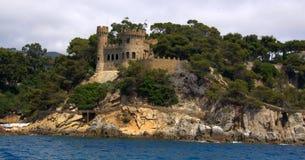 Castle in Lloret de mar,costa brava Royalty Free Stock Image
