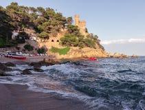 Castle at Lloret De Mar, Costa Brava, Spain Stock Images