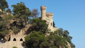 Castle in Lloret De Mar royalty free stock photo