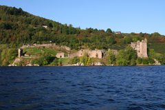 Castle on Loch Ness Royalty Free Stock Image