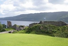 Castle and Loch Ness Stock Images