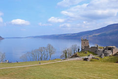 Castle and Loch Royalty Free Stock Photography