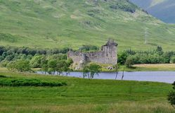 Castle by a Loch. Royalty Free Stock Photos