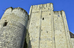 Castle of Loches in Indre et Loire Royalty Free Stock Photo