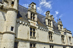 Castle of Loches in Indre et Loire Royalty Free Stock Images