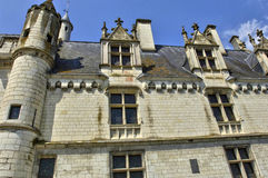 Castle of Loches in Indre et Loire Stock Photography