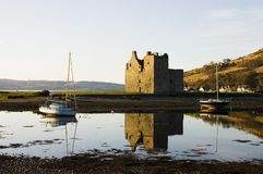 Castle at Lochranza in Scotland Stock Image