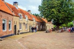 Castle Loevestein, Gelderland, Netherlands. Soldiers Homes in Loevestein, Gelderland, Netherlands Stock Photo
