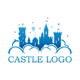 Castle logo illustration Royalty Free Stock Photography
