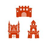 Castle Logo Template Royalty Free Stock Photo