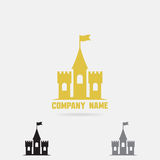 Castle logo template. Fortress vector icon. Castle logo template for company brandig. Fortress vector icon Royalty Free Stock Photo