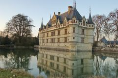 Castle of Azay le Rideau, Loire Valley, France Royalty Free Stock Image