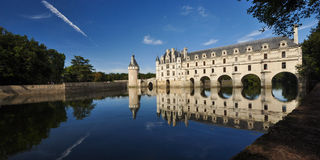 Castle of the Loire Valley - Chenoceau Stock Photo