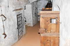 2017-09-01 - castle Loket, Czech republic, exhibition of torture stock photography