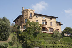 Castle look a like house in Getxo, Bilbao Spain Royalty Free Stock Images